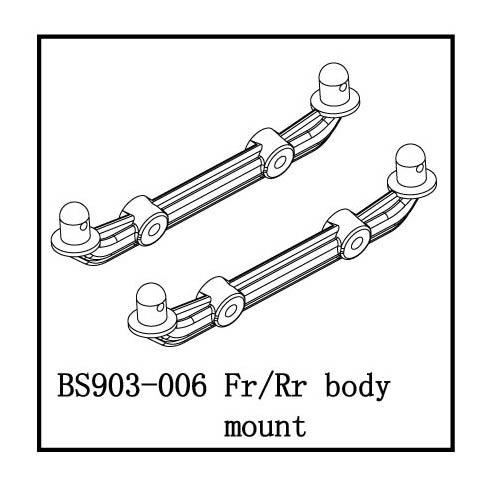 BS903-006-b Fr/Rr Body Mount-low